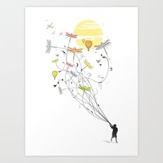Kite Dream Art Print
