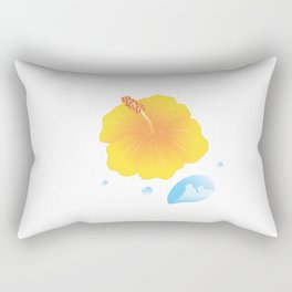Hibiscus and Thunderhead reflected in a Drop of water_Y Rectangular Pillow