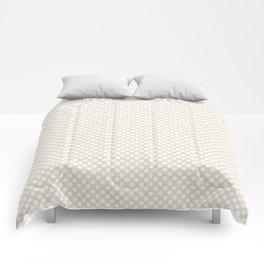 Eggnog and White Polka Dots Comforters