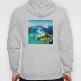 """French Polynesia's Secluded """"Secret Island"""": Aerial View Hoody"""