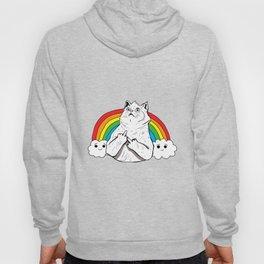 Fluff Off Rainbow Cat Hoody