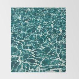 Blue Water Throw Blanket