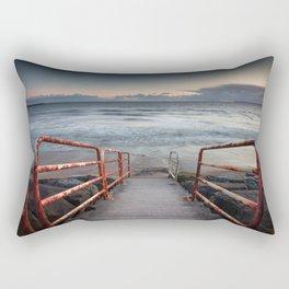 Aberavon beach handrail Rectangular Pillow