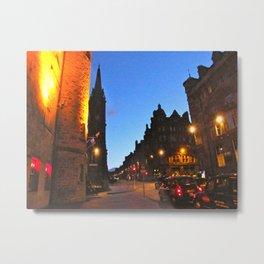Scottish Evening in Edingburgh Metal Print