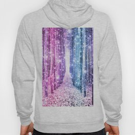 Magical Forest : Pastel Pink Lavender Aqua Periwinkle Ombre Hoody