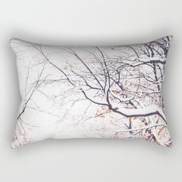snowy trees in Montreal Rectangular Pillow