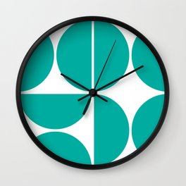 Mid Century Modern Turquoise Square Wall Clock