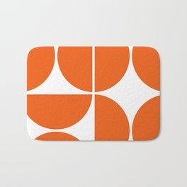 Mid Century Modern Orange Square Bath Mat