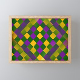 Harlequin Mardi Gras pattern Framed Mini Art Print