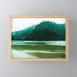 Foggy Beach in Oregon Framed Mini Art Print