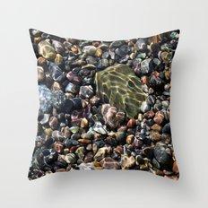 pool of pebbles  Throw Pillow