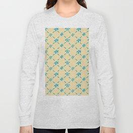 Floral Geometric Pattern Hawaiian Ocean and Sand Long Sleeve T-shirt