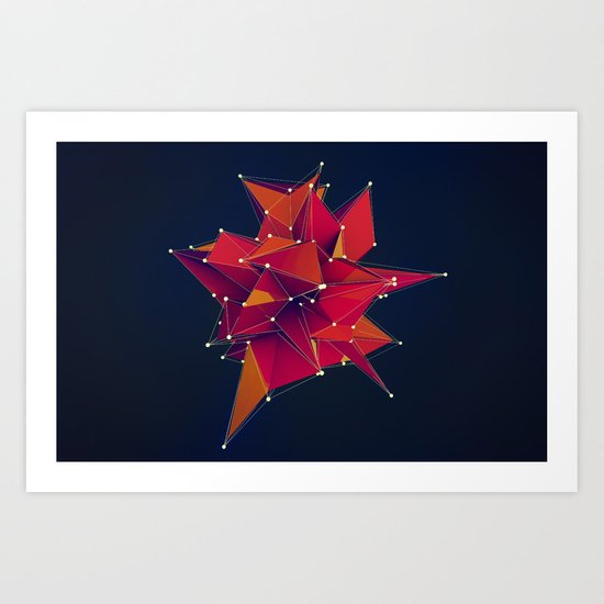 Architecture Polygons Art Print