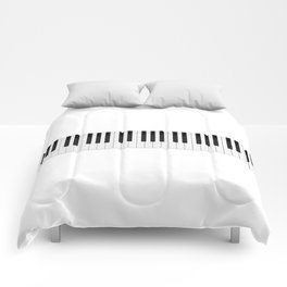 Piano / Keyboard Keys Comforters