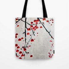Red Splash Tote Bag