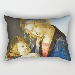 Botticelli  -  The Virgin And Child The Madonna Of The Book Rectangular Pillow