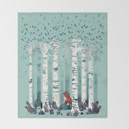 The Birches Throw Blanket