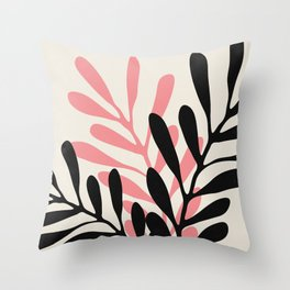 Still Life with Vase and Three Branches Throw Pillow