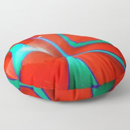 Flaming Red Hot Rod Floor Pillow