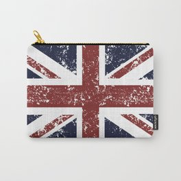 Old scratched United Kingdom flag Carry-All Pouch