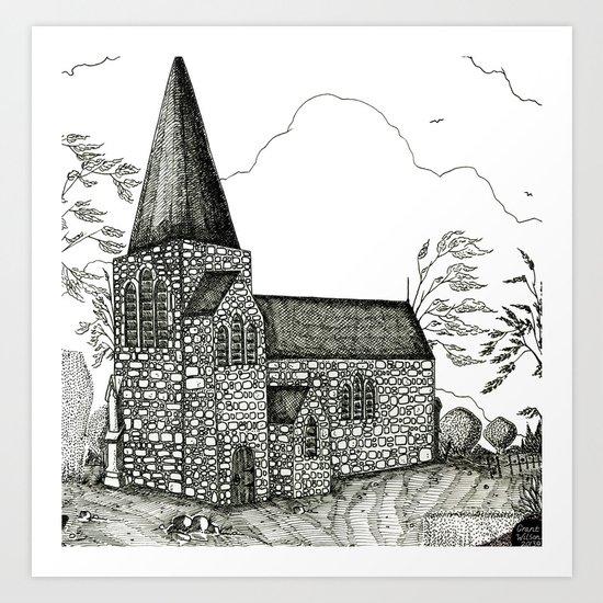 In-spire [Pen drawing version] Art Print