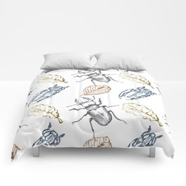 Bugs and leaves Comforters