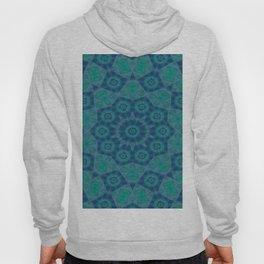 Jade , Aqua and Turquoise Symmetrical Pattern Hoody
