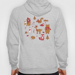 Winter Woodlands - Red Hoody