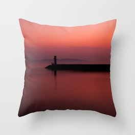Slow City Sunset Throw Pillow
