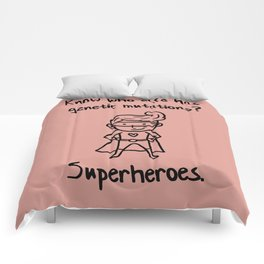 Down Syndrome Superhero Chromosomal Boys Kid  Gift Comforters