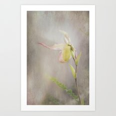 Whispering Lady Art Print