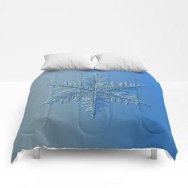 Real snowflake macro photo: Winter1 Comforters