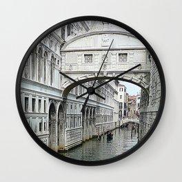 Bridge of sighs in Venice Wall Clock