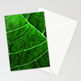 LEAF STRUCTURE GREENERY no2 Stationery Cards
