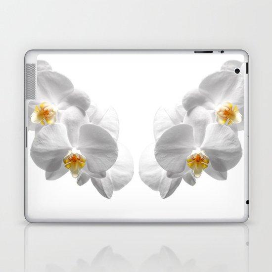 white orchid II Laptop & iPad Skin