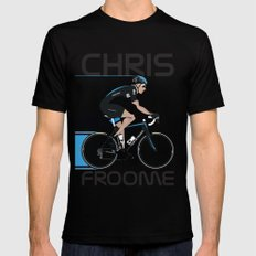 Chris Froome Black LARGE Mens Fitted Tee