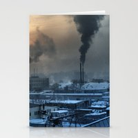 industrial Stationery Cards featuring Industrial by Abramskama