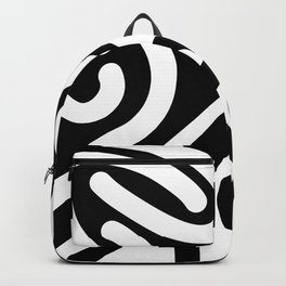 Free Squiggle - Black and White Backpack
