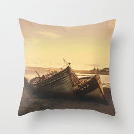 Wrecked Vessels Throw Pillow