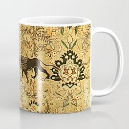 Antique Persian Tabriz Animal Rug Print Coffee Mug