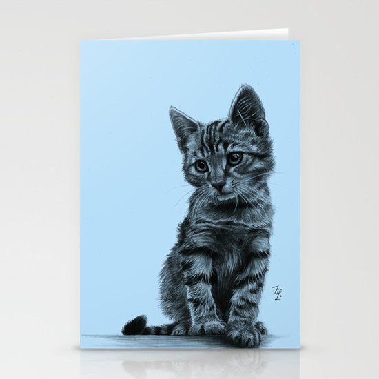 Kitty - PENCIL DRAWING Stationery Cards