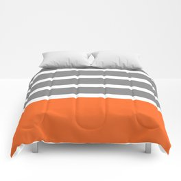 Orange Stripe Comforters