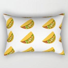 Taco Pattern with Transparent Background Rectangular Pillow