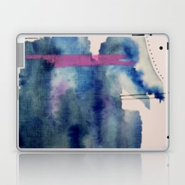 Pour: a blue and purple abstract watercolor Laptop & iPad Skin