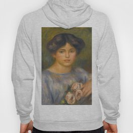 """Auguste Renoir """"Jeune fille aux roses (Young girl with flowers)"""" Hoody"""