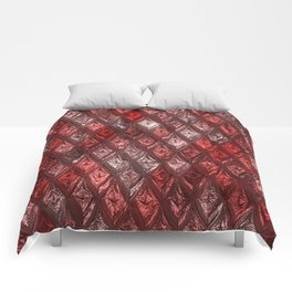 Sparkling Rhombs, red Comforters
