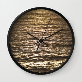 Sun ray on the sea Wall Clock