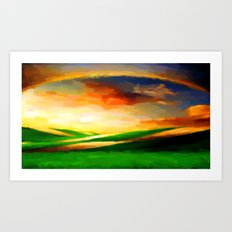 Colorful Sky - Painting Style Art Print