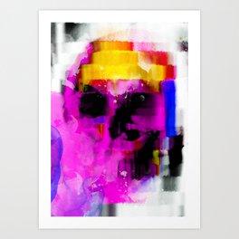 abstrac skull Art Print