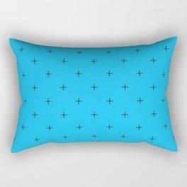 Crosses on Deep Sky Blue Rectangular Pillow